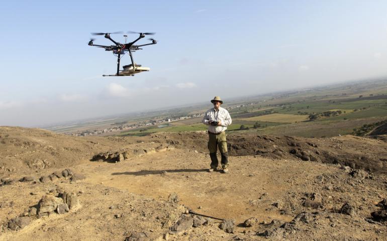 El uso de los drones en la arqueología